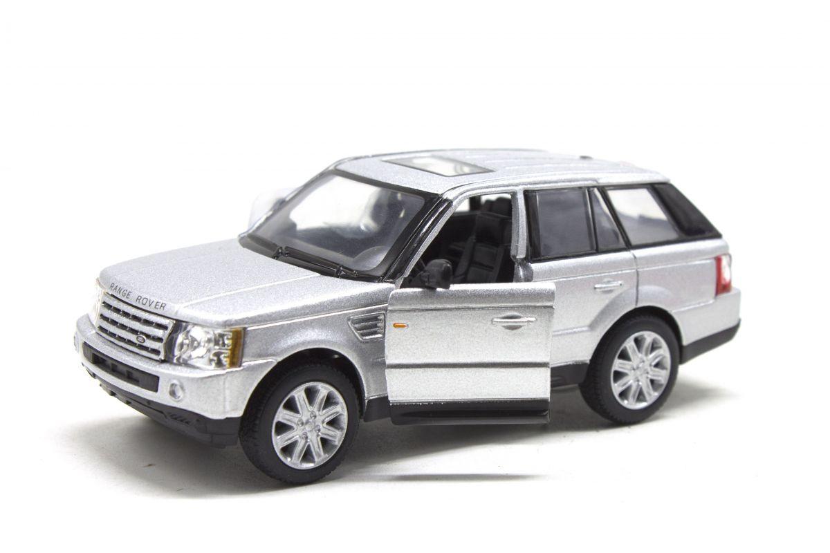 """Машинка KINSMART Range Rover Sport (серебристая) купить в магазине """"Пустун"""""""