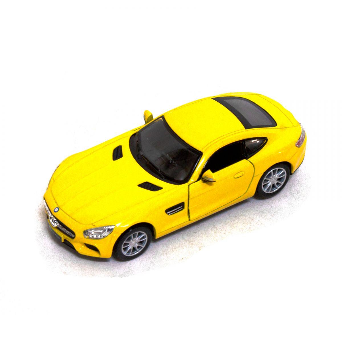 """Машинка KINSMART Mercedes-AMG GT (желтая) купить в магазине """"Пустун"""""""