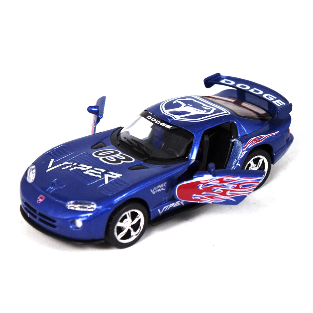 """Машинка KINSMART Dodge Viper GTSR (синяя) купить в магазине """"Пустун"""""""