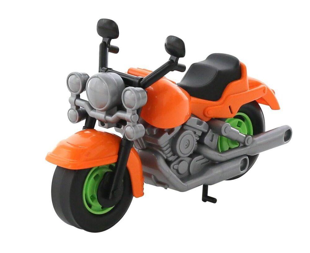 """Детский игрушечный гоночный мотоцикл оранжевого цвета купить в магазине """"Пустун"""""""