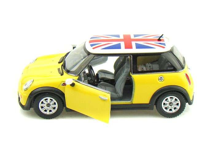 """Машинка KINSMART Mini Cooper S (желтая) купить в магазине """"Пустун"""""""