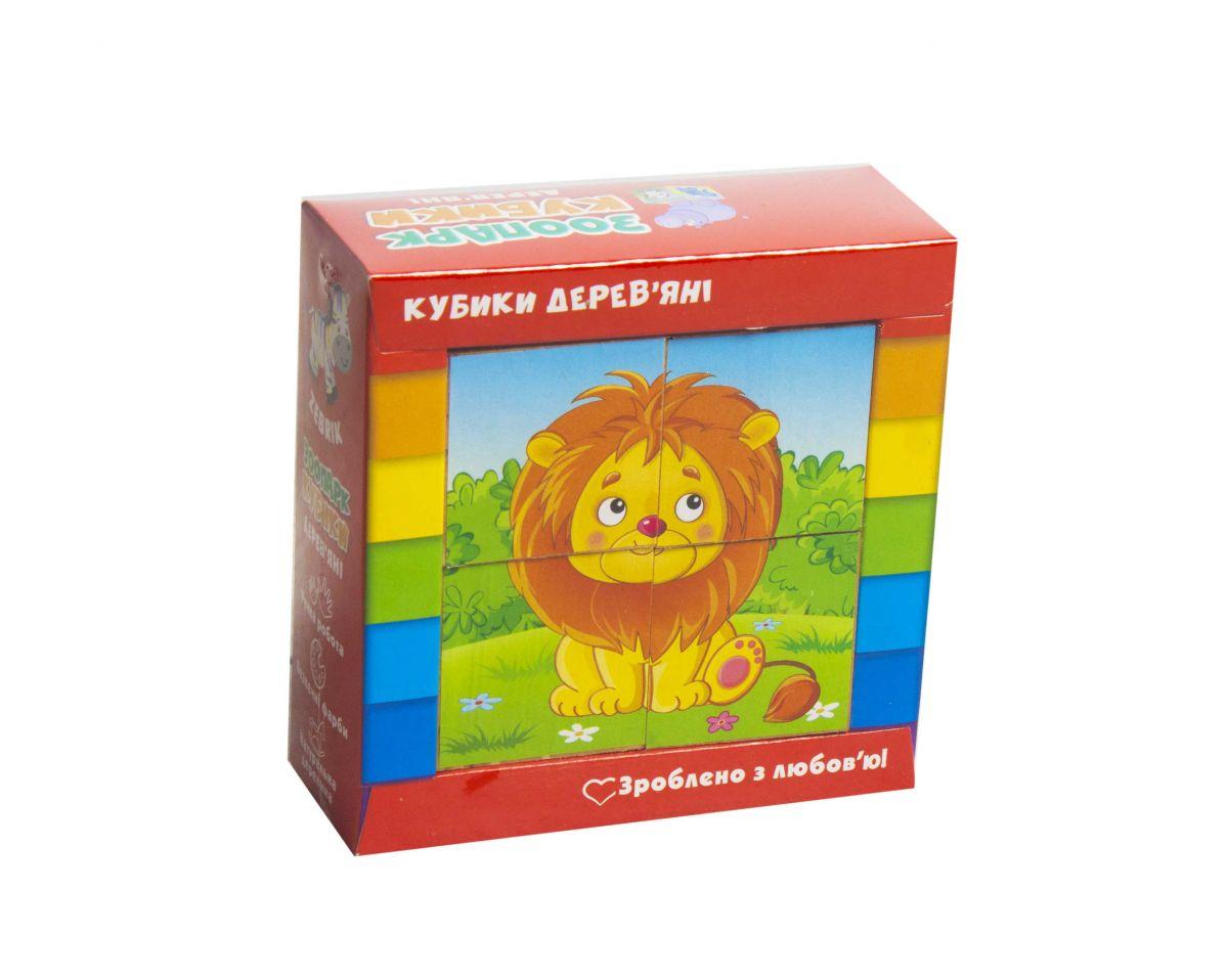 """Кубики деревянные Зоопарк купить в магазине """"Пустун"""""""