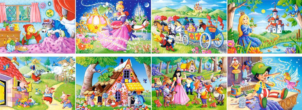 Пазлы для детей сказки