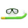 """Маска с трубкою для плавания, зеленый 1131 купить в магазине """"Пустун"""""""