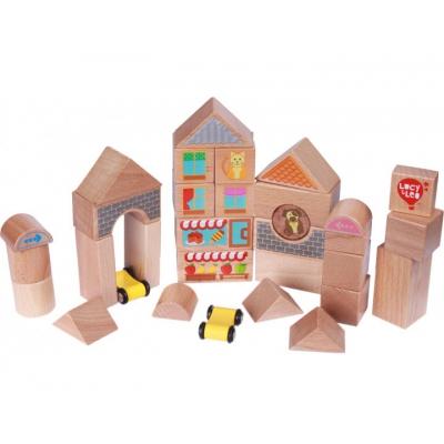 """Конструктор-кубики деревянные Lucy  Leo, 25 деталей (LL174) купить в магазине """"Пустун"""""""