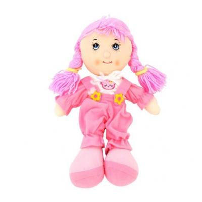 """Мягкая музыкальная кукла розовый комбинезон купить в магазине """"Пустун"""""""