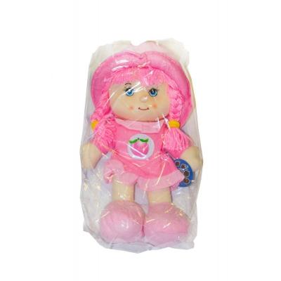 """Мягкая музыкальная кукла в капюшоне розовый купить в магазине """"Пустун"""""""
