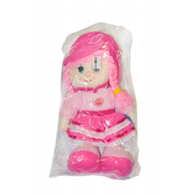 """Мягкая музыкальная кукла в капюшоне (в розовом ) купить в магазине """"Пустун"""""""