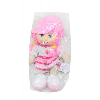 """Мягкая музыкальная кукла в капюшоне в белом купить в магазине """"Пустун"""""""