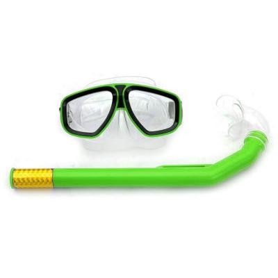 """Маска с трубкою для плавания, зеленый 1131 купить в магазине """"Пустун"""" Фото 2"""