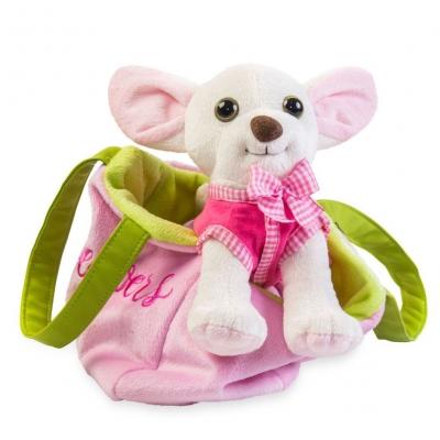 """Мягкая игрушка Чихуахуа с сумочкой в платье (СО-0103) купить в магазине """"Пустун"""""""