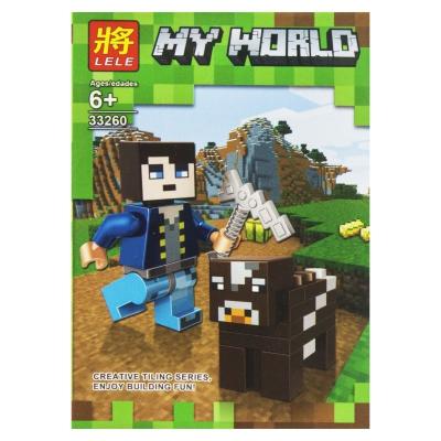 """Конструктор """"My World: Minecraft Корова"""" 4 SM2486 купить в магазине """"Пустун"""""""