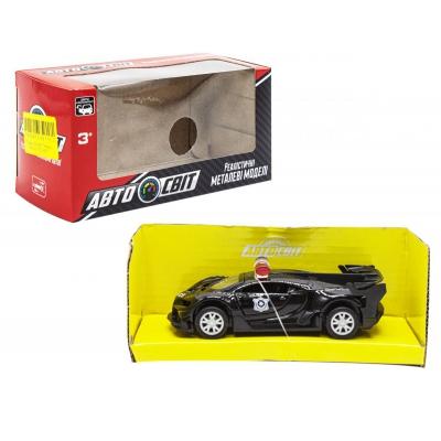 """Машинка металлическая """"Bugatti"""" черная AS-2103 купить в магазине """"Пустун"""""""