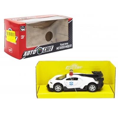"""Машинка металлическая """"Bugatti"""" белая AS-2103 купить в магазине """"Пустун"""""""