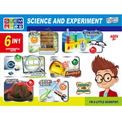 """Исследовательская лаборатория """"Science and Experiment"""" 6 в 1 1056 купить в магазине """"Пустун"""""""