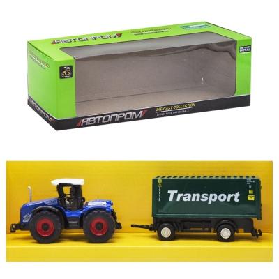 """Машинка """"Автопром. Трактор"""", (зеленый прицеп """"Transport"""") 7786-2 купить в магазине """"Пустун"""""""