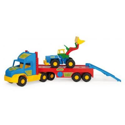"""Грузовик Super Truck с трактором (36520) купить в магазине """"Пустун"""""""