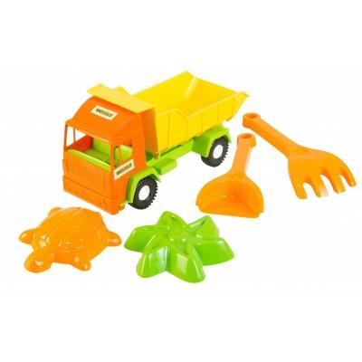 """Машинка TIGRES Mini truck грузовик с набором для песка 5 элементов (39157) купить в магазине """"Пустун"""""""