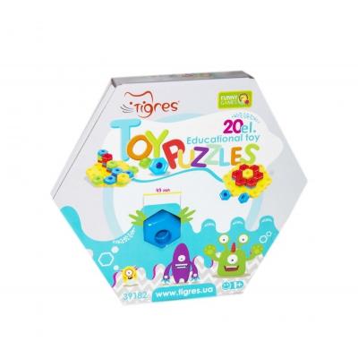 """Развивающая игрушка TIGRES «Снежинка» 20 элементов (39182) купить в магазине """"Пустун"""""""