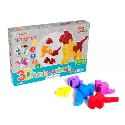 """3D пазлы TIGRES Животные 32 элемента (39355) купить в магазине """"Пустун"""""""