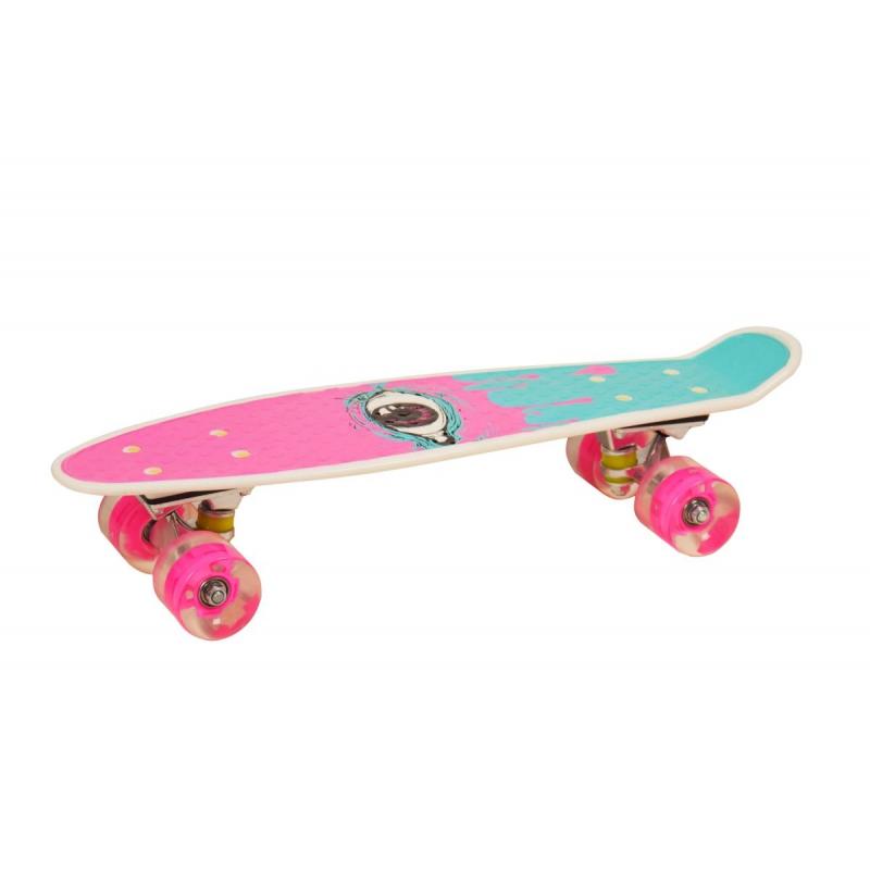 """Пенни Борд со светящимися колёсами """"Глаз"""" (розовый) S29661 купить в магазине """"Пустун"""""""