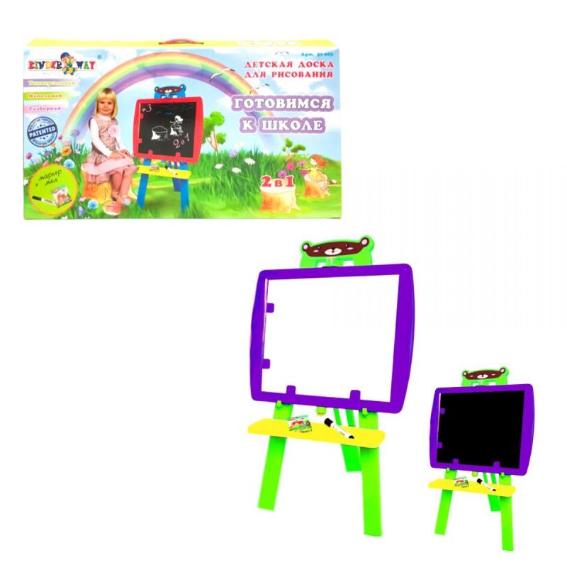 """Мольберт """"Готовимся к школе"""" 2 в 1 (фиолетовый) KW-51-003 купить в магазине """"Пустун"""""""