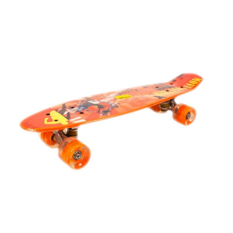 """Пенни Борд, с принтом (темно-оранжевый) 20888 купить в магазине """"Пустун"""""""