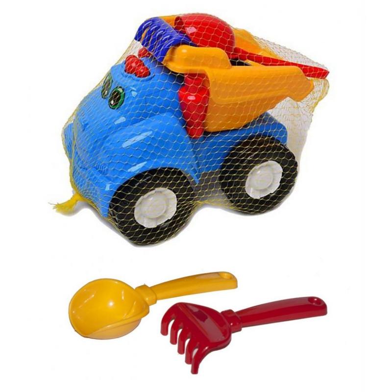"""Машина """"Смайл самосвал"""" №1 (синяя) + грабельки и лопатка 0121 купить в магазине """"Пустун"""""""
