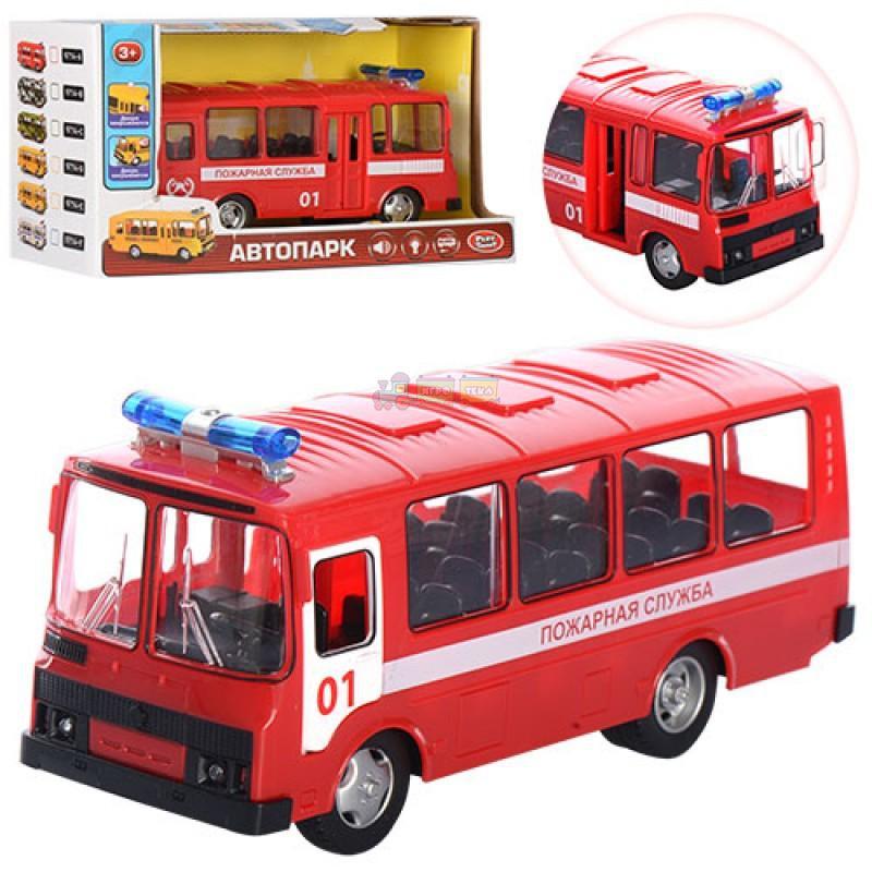 """Автобус """"Пожарная служба"""" из серии """"Автопарк"""" 9714A купить в магазине """"Пустун"""""""