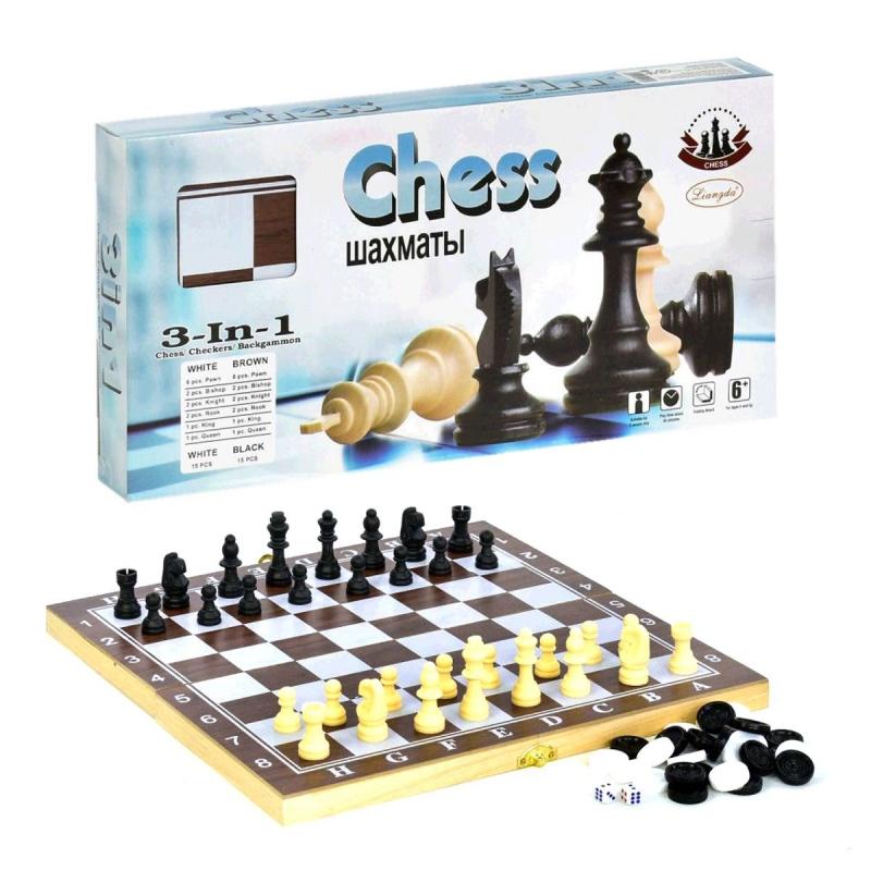 """Набор 3 в 1 Шахматы, Шашки, Нарды, средний купить в магазине """"Пустун"""""""