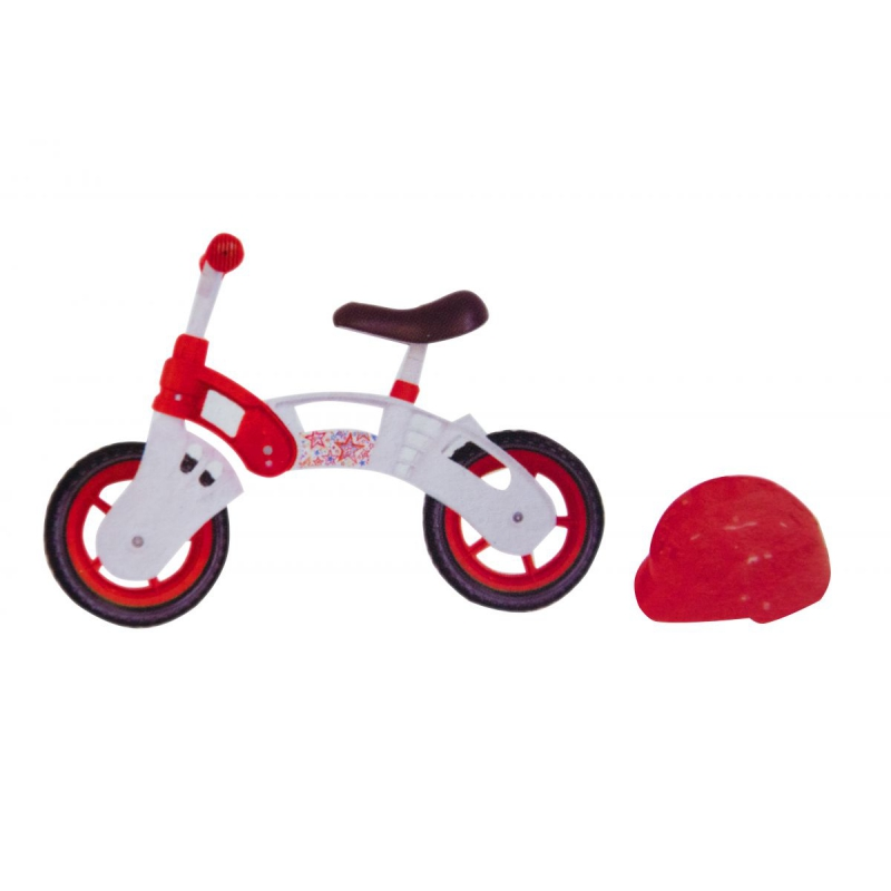"""Беговел """"Star Bike"""" с шлемом, 10"""" (бело-красный) KW-11-013 купить в магазине """"Пустун"""""""