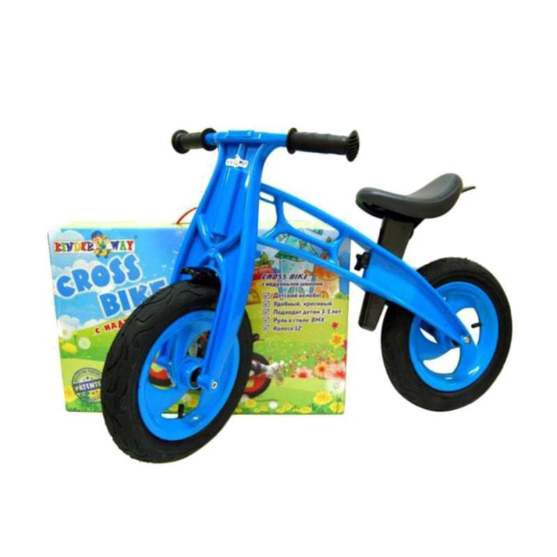 """Беговел """"Cross Bike"""", 12"""" (синий) KW-11-016 СИН купить в магазине """"Пустун"""""""