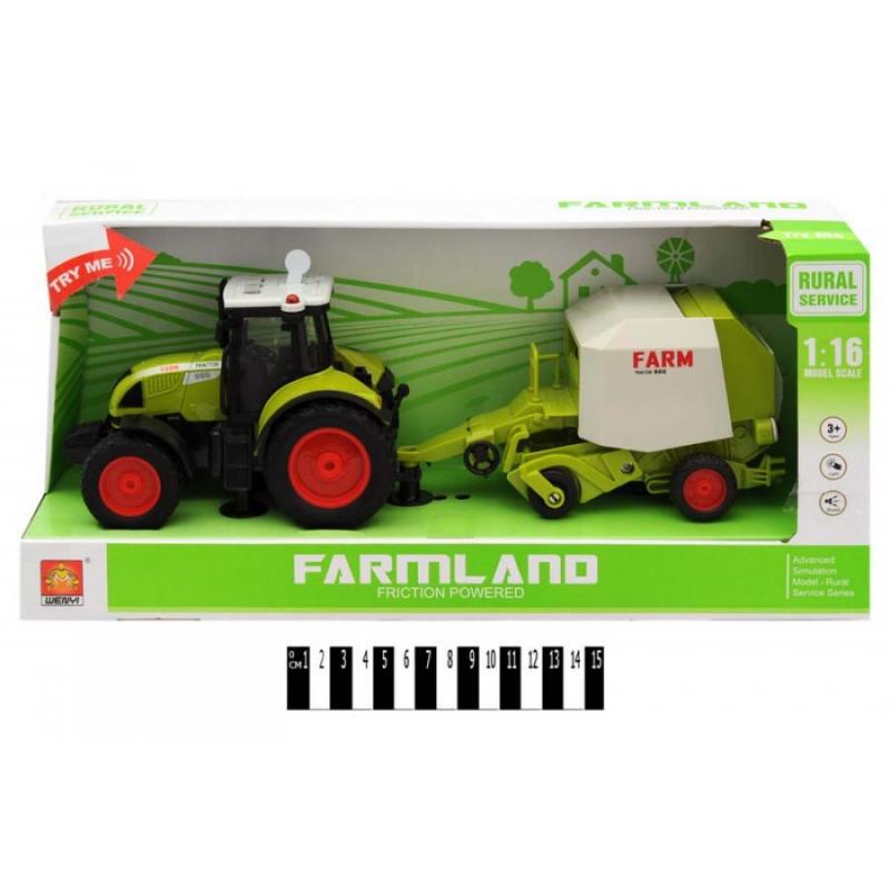 """Трактор с прицепом FARMLAND, музыкальный купить в магазине """"Пустун"""""""