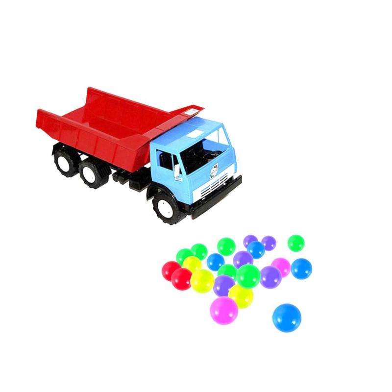 """Машинка Самосвал с шариками синяя купить в магазине """"Пустун"""""""