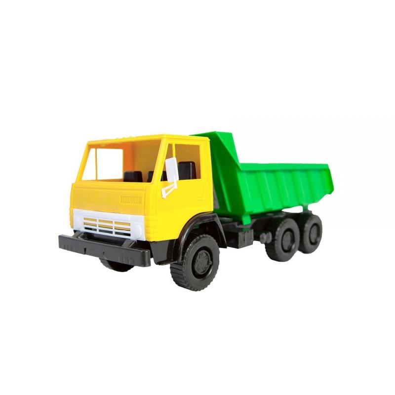 """Машинка пластиковая """"Самосвал"""" (желтая) 320 купить в магазине """"Пустун"""""""