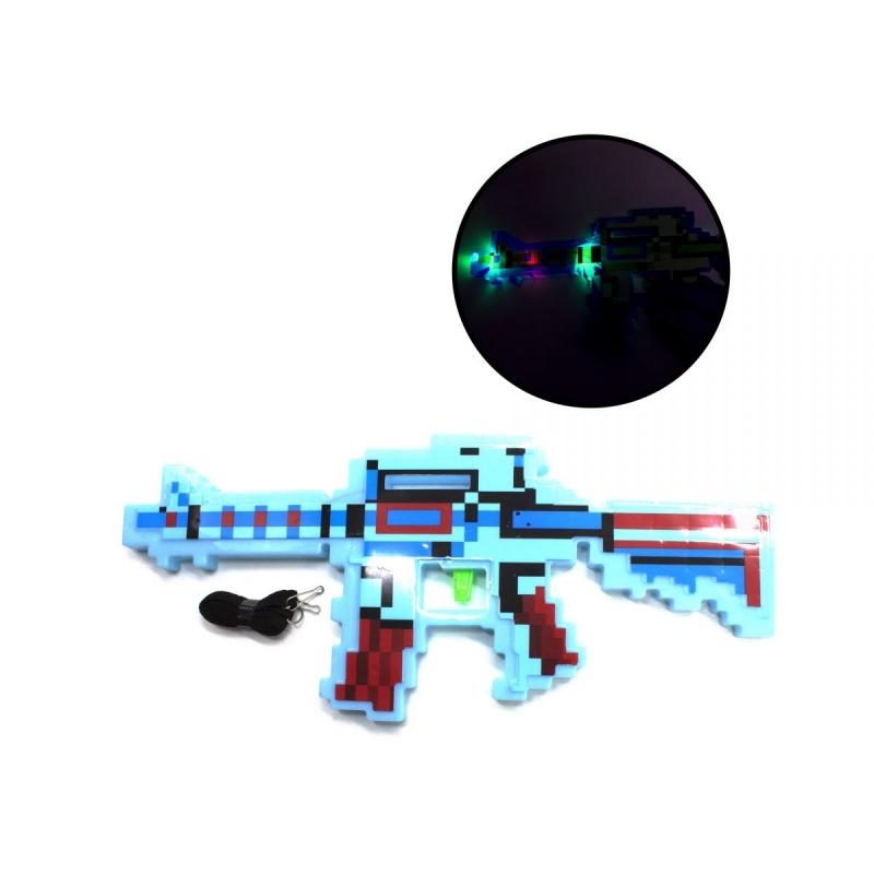 """Автомат Майнкрафт, свет, звук (голубой) купить в магазине """"Пустун"""""""