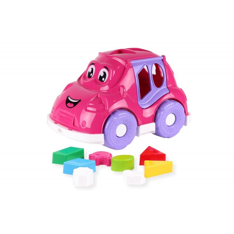 """Машинка-сортер с фигурками (розовая) купить в магазине """"Пустун"""""""