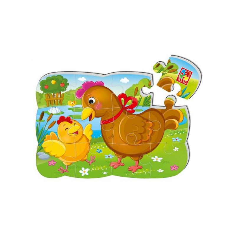 """Магнитные пазлы Курочка и цыплёнок (12 деталей) купить в магазине """"Пустун"""""""