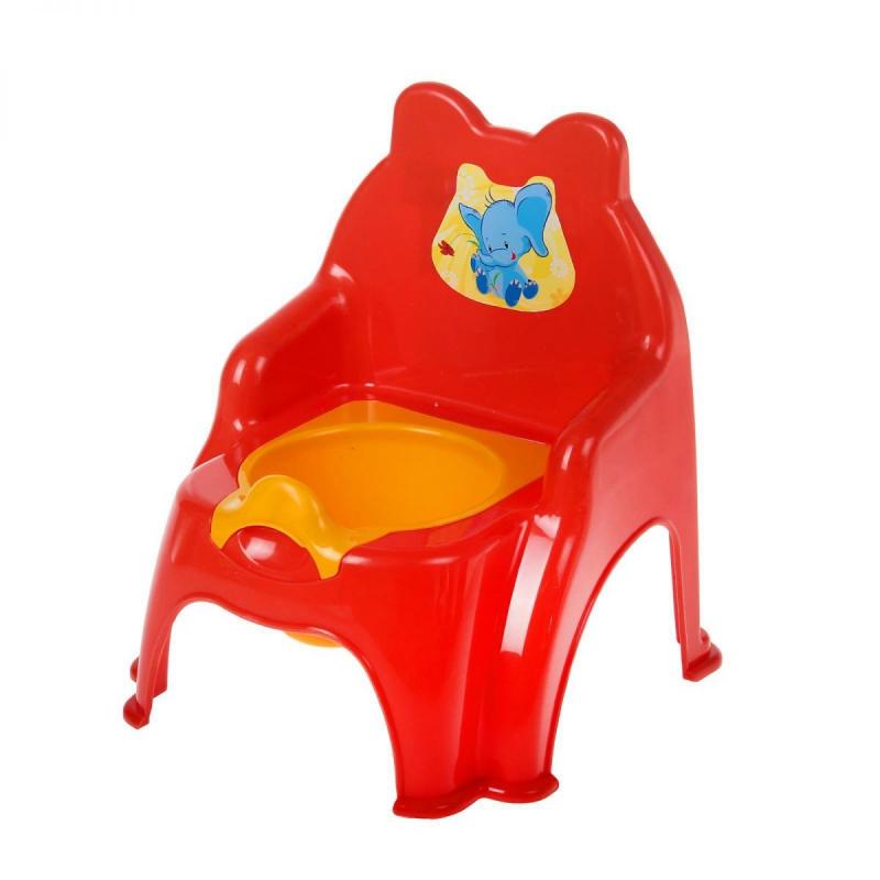 """Детский горшок-стульчик (красный) 013317/02/5 купить в магазине """"Пустун"""""""