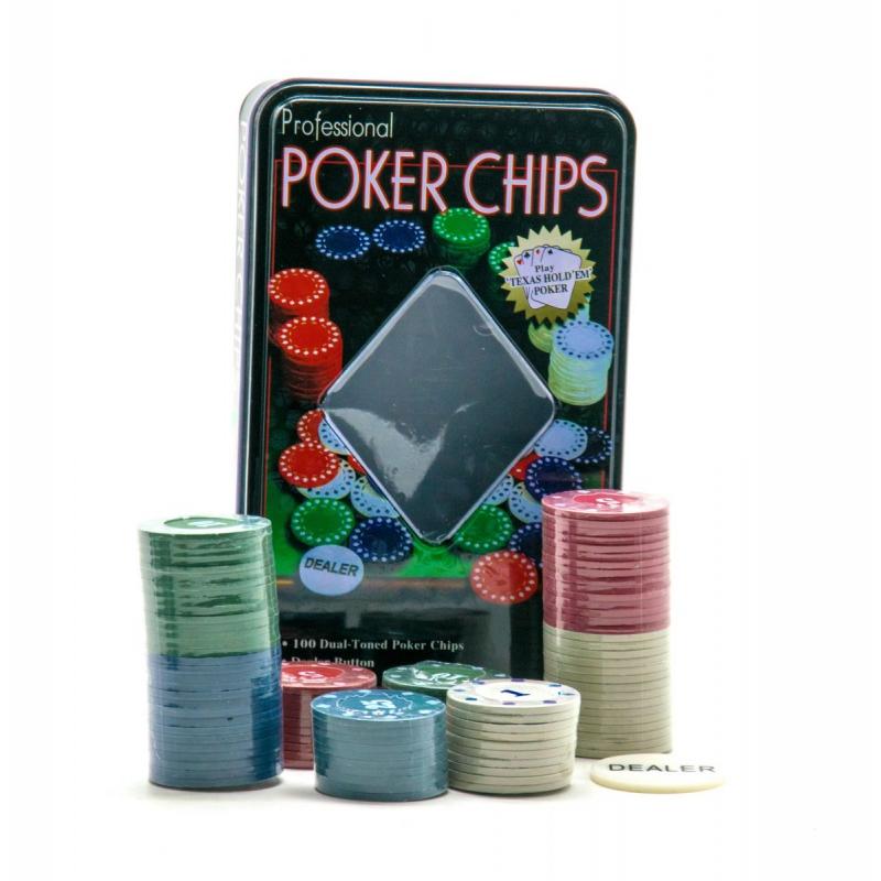 """Набор фишек для покера 100 штук купить в магазине """"Пустун"""""""