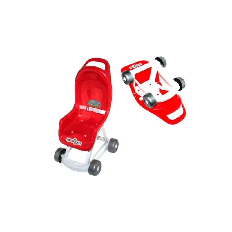 """Коляска для кукол (красная) KW-37-001 купить в магазине """"Пустун"""""""