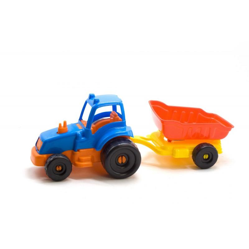 """Трактор с прицепом М (синий) KW-07-711_к купить в магазине """"Пустун"""""""
