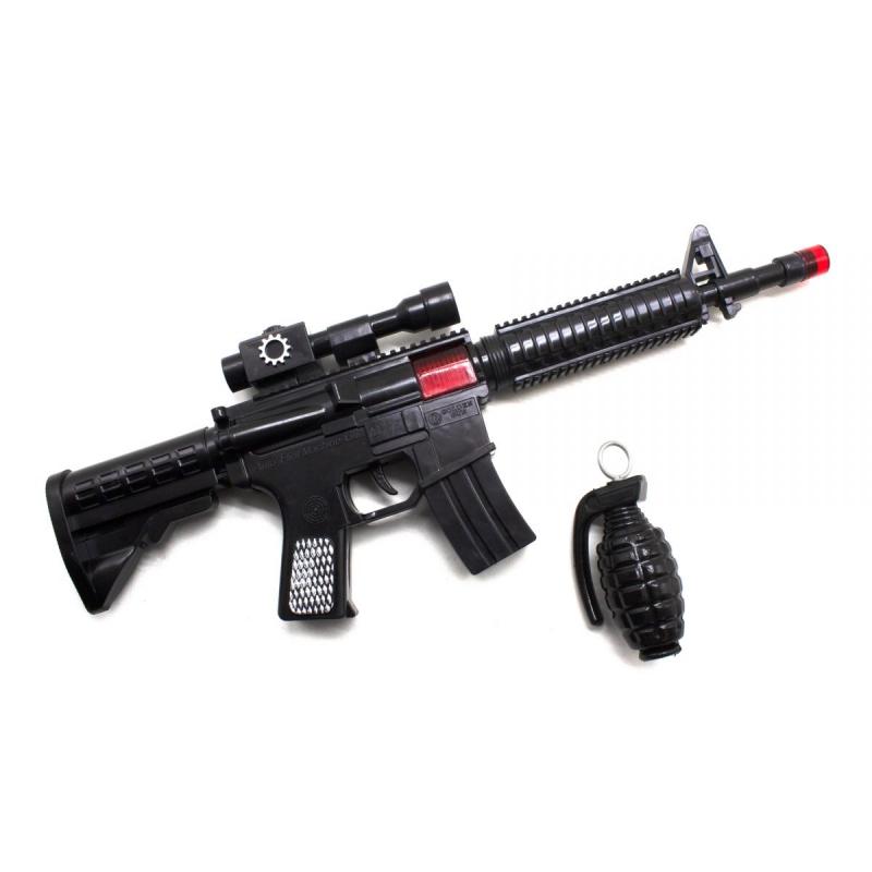 """Автомат трещетка M16 с гранатой купить в магазине """"Пустун"""""""