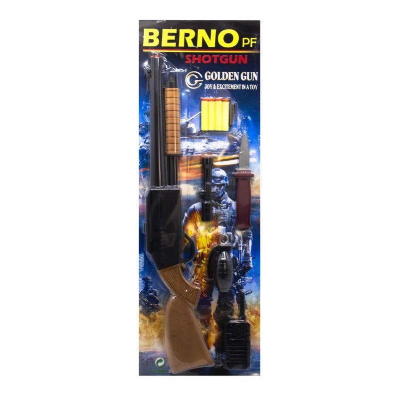 """Дробовик Berno с мягкими патронами и аксессуарами купить в магазине """"Пустун"""""""