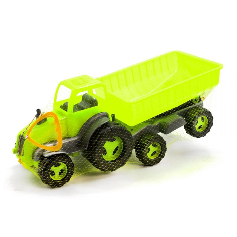 """Трактор с прицепом (салатовый) купить в магазине """"Пустун"""""""