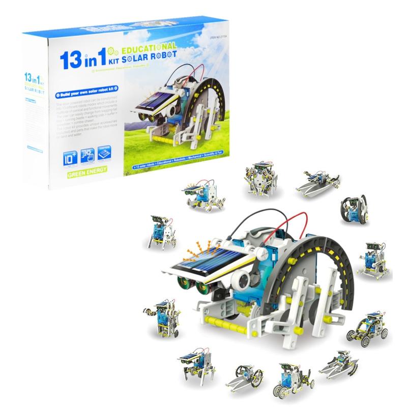 """Робот-конструктор на солнечных батареях 13 в 1 2115A купить в магазине """"Пустун"""""""