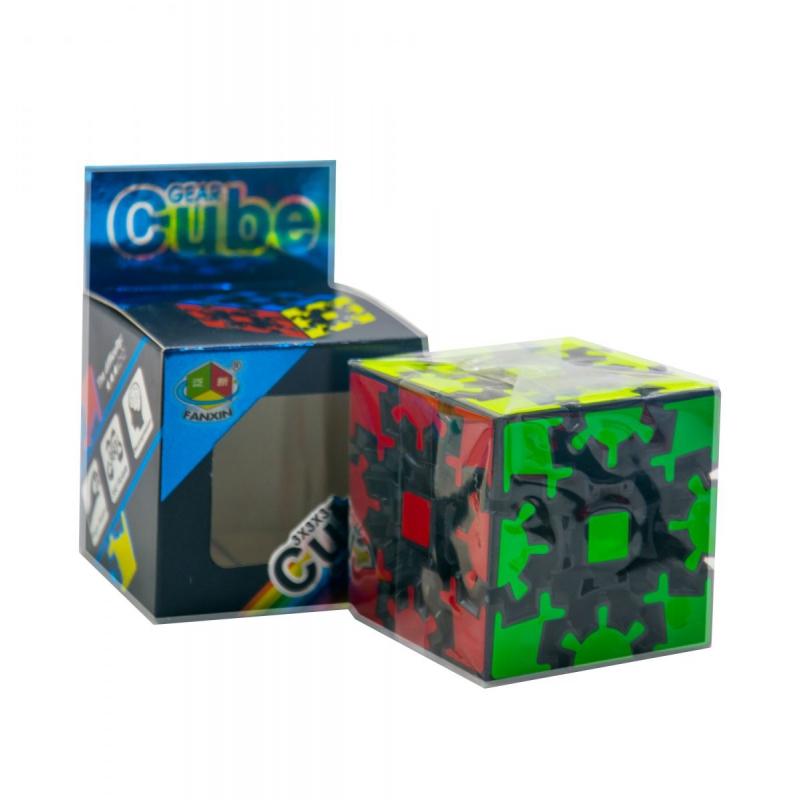 """Головоломка на шестернях Gear Cube черная купить в магазине """"Пустун"""""""