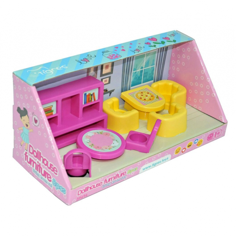 """Набор мебели для гостиной TIGRES Dollhouse furniture (39696) купить в магазине """"Пустун"""""""