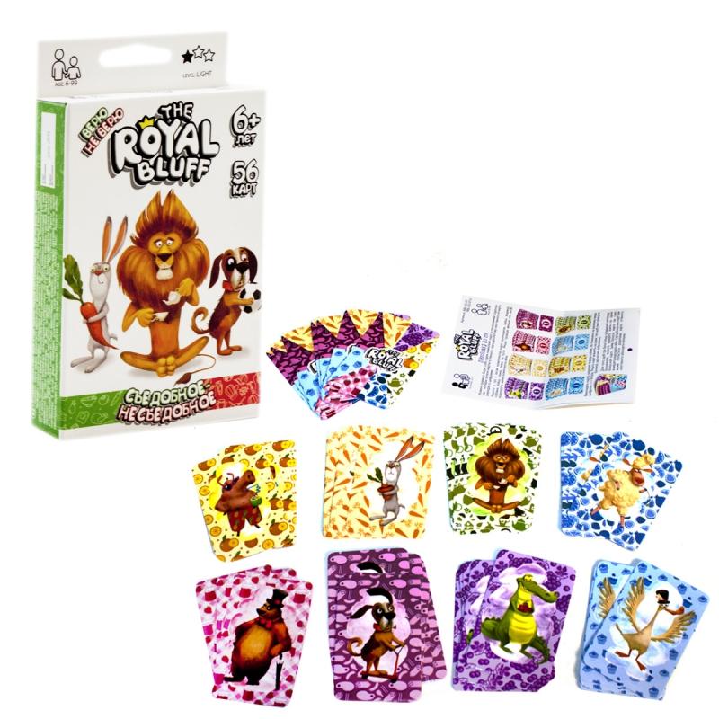 """Карточная игра The Royal Bluff съедобное несъедобное рус купить в магазине """"Пустун"""""""