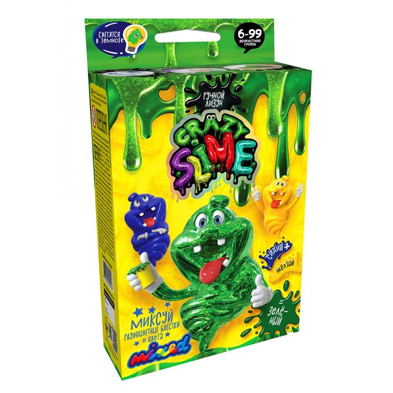 """Набор для опытов Crazy Slime  Лизун своими руками (зеленый) купить в магазине """"Пустун"""""""